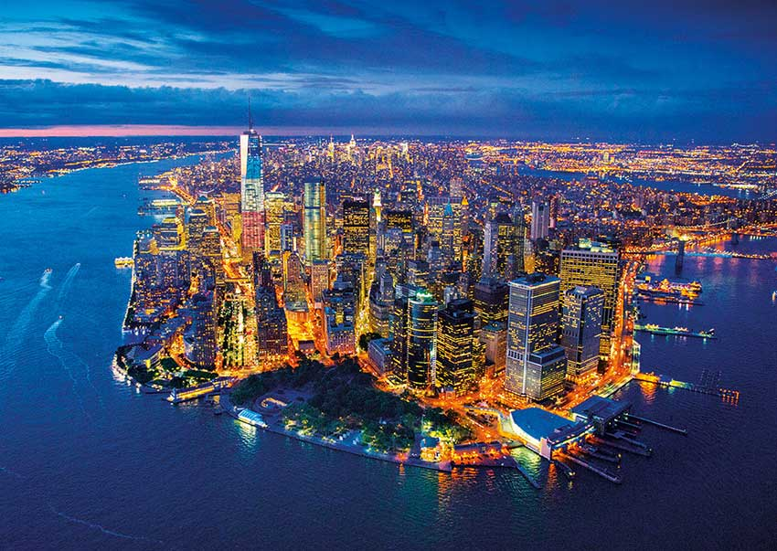 Puzzle Educa Nueva York Desde el Aire de 2000 Piezas