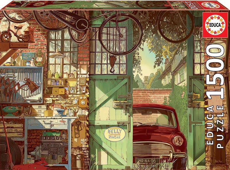 Puzzle Educa Old Garage, El Viejo Garaje de 1500 Piezas