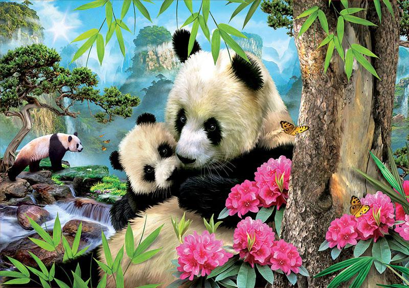 Puzzle Educa Osos Pandas de 1000 Piezas
