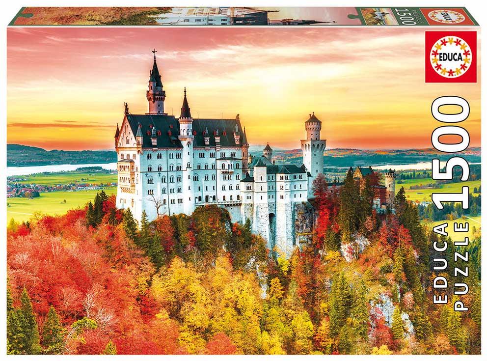 Puzzle Educa Otoño en Neuschwanstein de 1500 Piezas