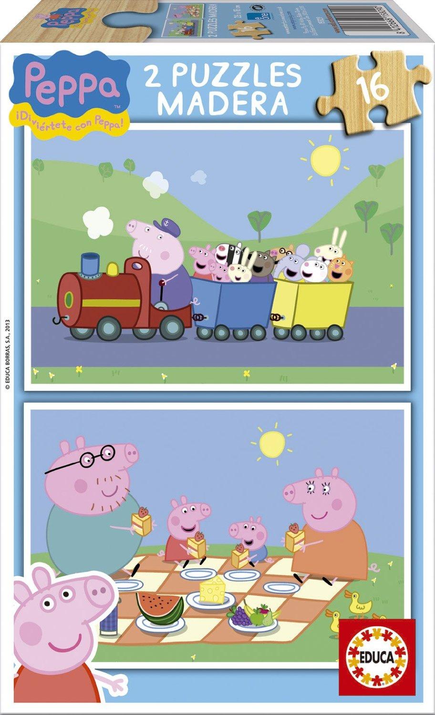 Puzzle Educa Peppa Pig 2 x 16 Piezas