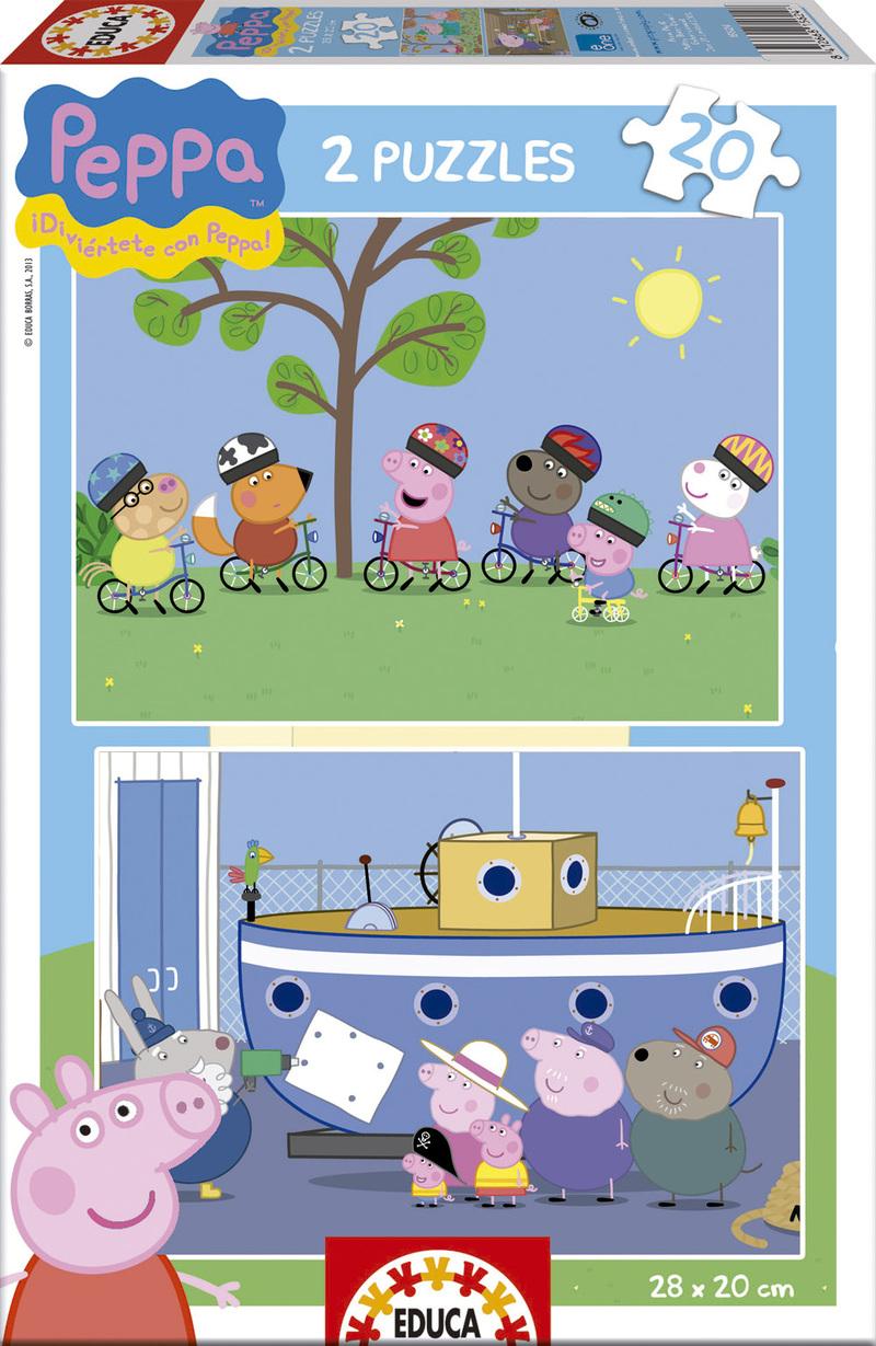 Puzzle Educa Peppa Pig  2 x 20 Piezas