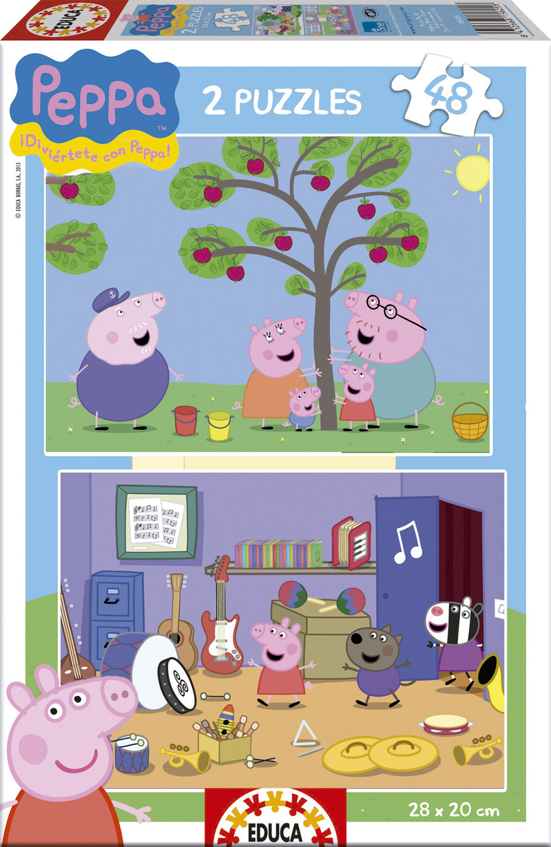 Puzzle Educa Peppa Pig 2 x 48 Piezas