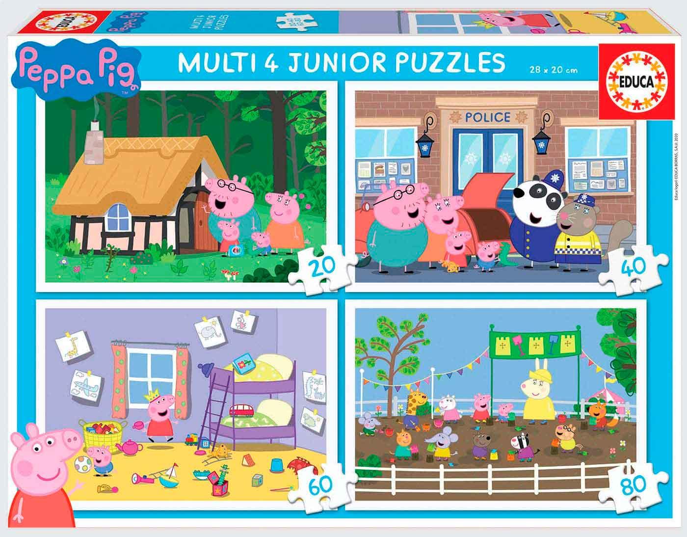 Puzzle Educa Peppa Pig Multi Progresivo 20+40+60+80 pzs