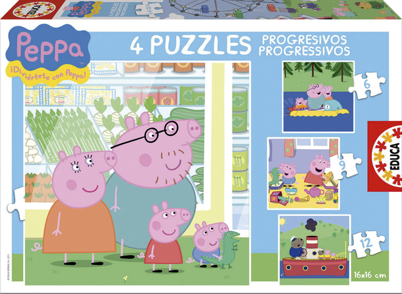 Puzzle Educa Peppa Pig Progresivo 6+9+12+16