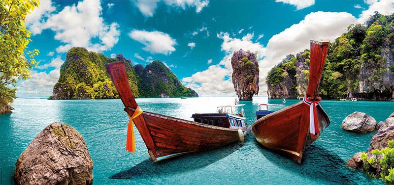 Puzzle Educa Phuket, Tailandia Panorámico de 3000 Piezas