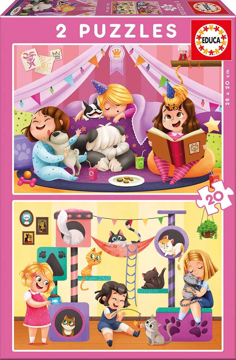 Puzzle Educa Fiesta de Pijamas 2 x 20 Piezas