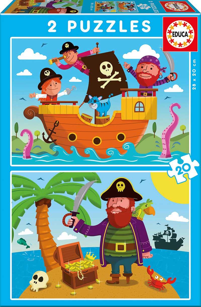 Puzzle Educa Piratas 2 x 20 Piezas