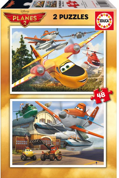 Puzzle Educa Planes Fire Rescue 2 x 48 Piezas