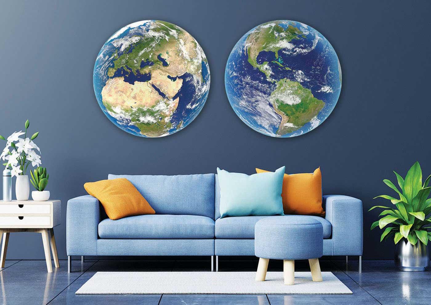 Puzzle Educa Redondo Planeta Tierra de 2 x 800 Piezas