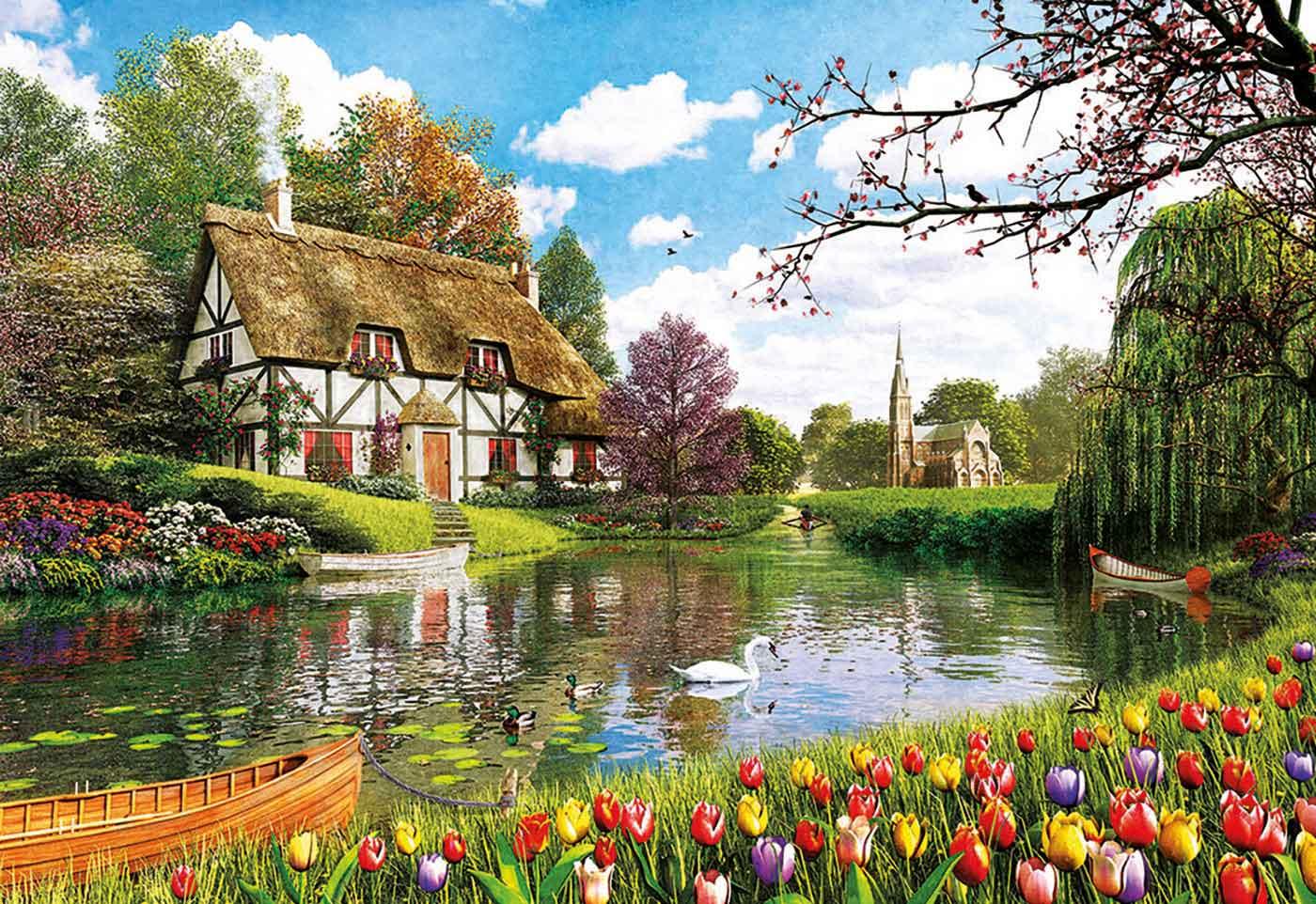 Puzzle Educa Primavera en el Lago 6000 Piezas