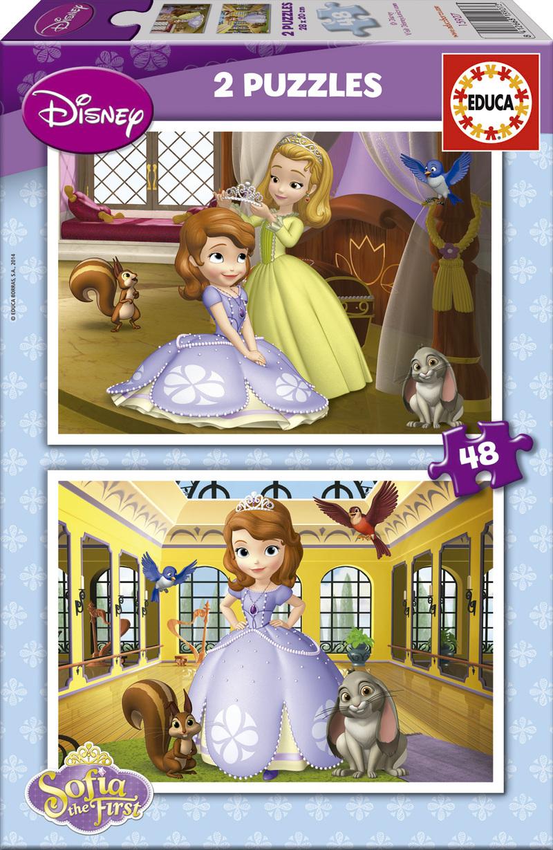 Puzzle Educa Princesa Sofia  2 x 48 Piezas