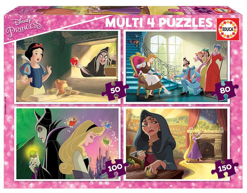 Puzzle Educa Princesa y Villanas Multi Progresivo 50+80+100+150