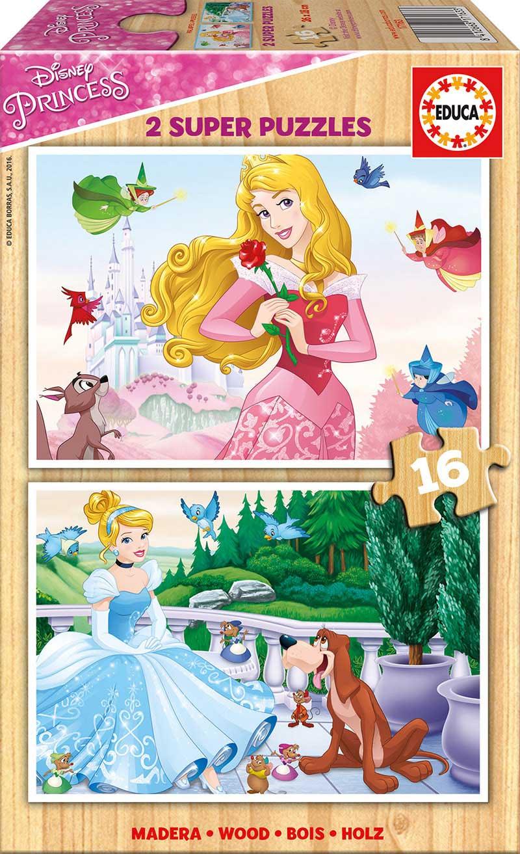 Puzzle Educa Princesas Disney 2 x 16 Piezas Madera