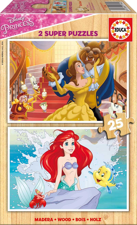 Puzzle Educa Princesas Disney 2 x 25 Piezas Madera