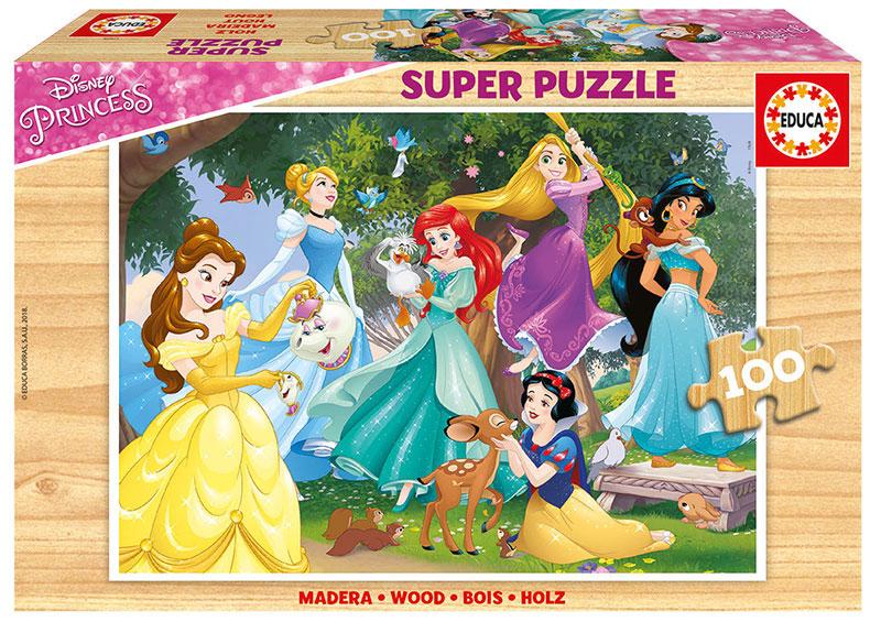 Puzzle Educa Princesas Disney de 100 Piezas Madera