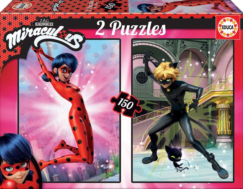 Puzzle Educa Prodigiosa Ladybug 2 x 150 Piezas