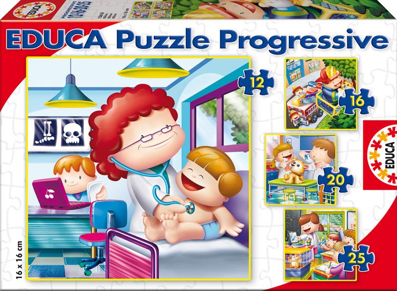 Puzzle Educa Progresivo De Mayor Quiero Ser 6+9+12+16 Piezas