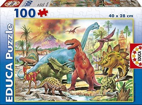 Puzzle Educa Dinosaurios de 100 Piezas