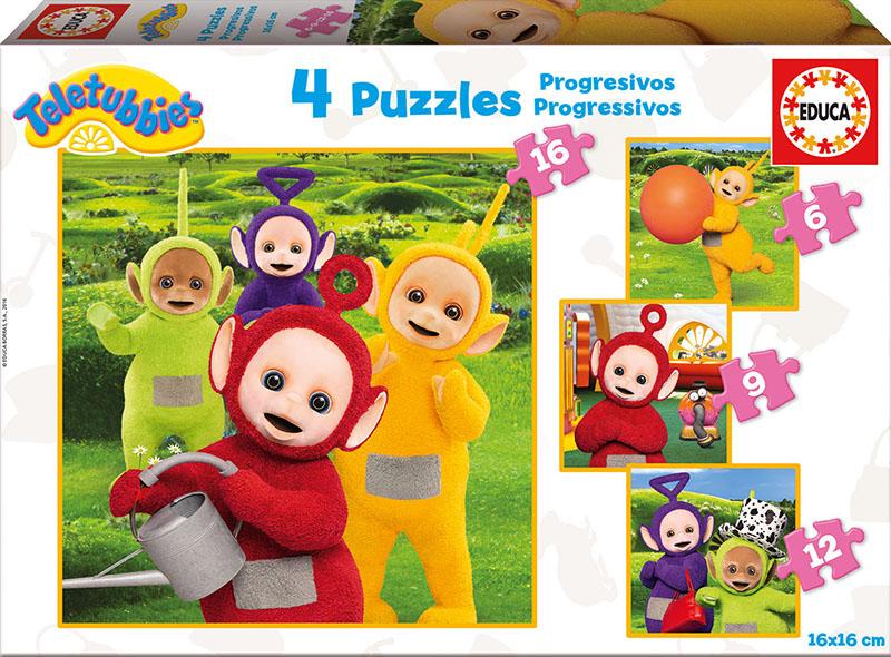 Puzzle Educa Progresivo Teletubies 6+9+12+16 Piezas
