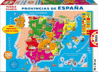 Puzzle de las Provincias de España de 150 Piezas