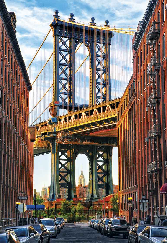 Puzzle Educa Puente de Manhattan, Nueva York de 1000 Piezas