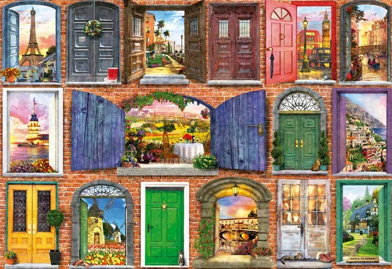 Puzzle Educa Puertas de Europa de 1500 Piezas