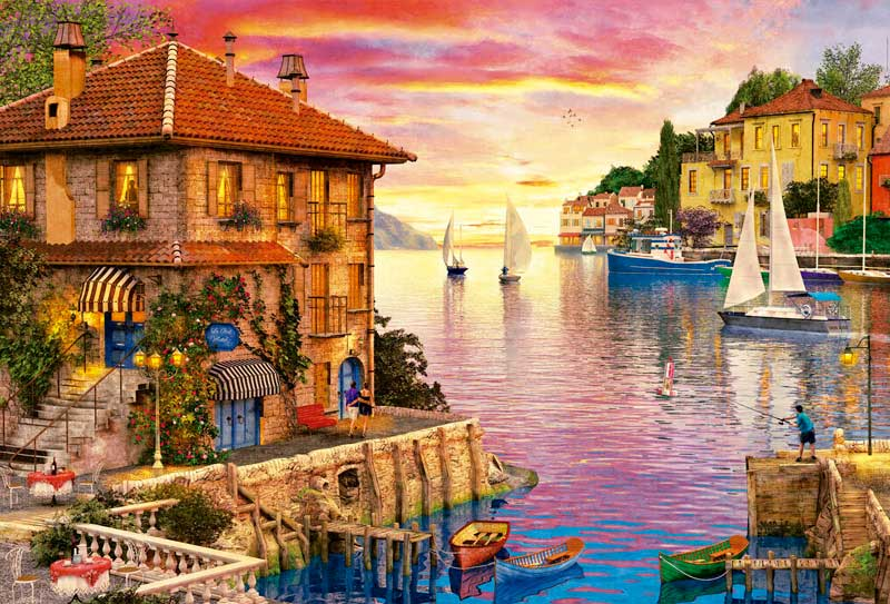Puzzle Educa Puerto Mediterráneo de 5000 Piezas