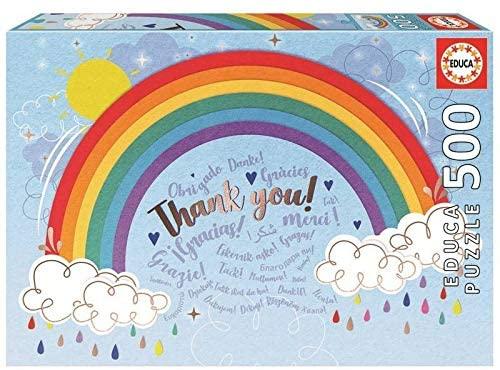 Puzzle Educa Rainbow Gracias de 500 Piezas