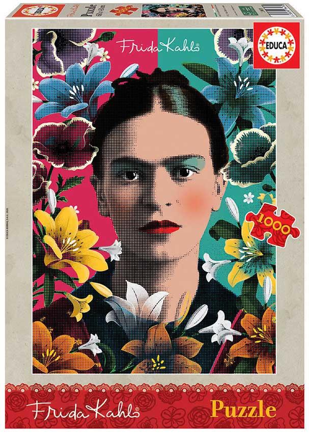 Puzzle Educa Retrato de Frida Khalo de 1000 Piezas
