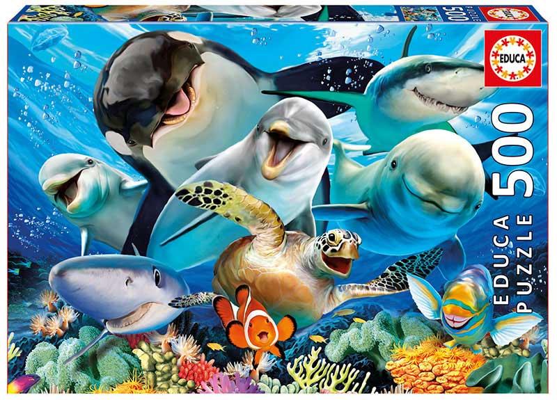 Puzzle Educa Selfie Bajo el Agua de 500 Piezas