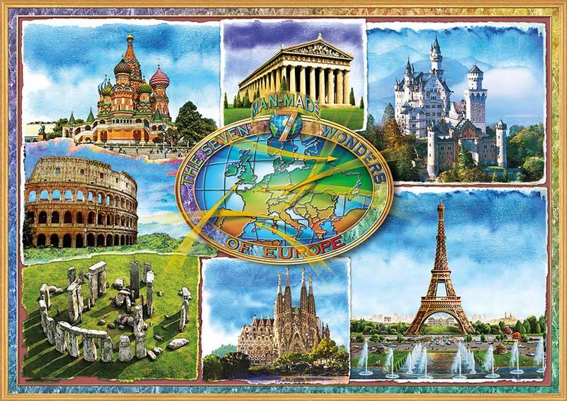 Puzzle Educa Siete Maravillas de Europa de 1500 Piezas