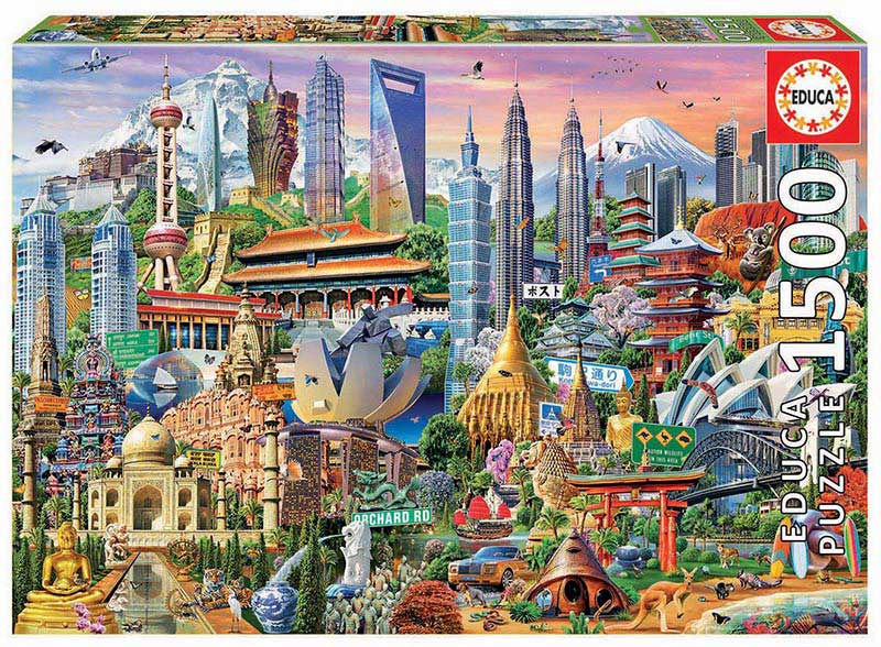 Puzzle Educa Símbolos de Asia de 1500 Piezas