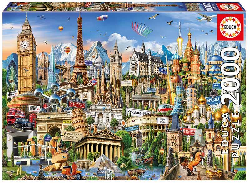 Puzzle Educa Simbolos de Europa de 2000 Piezas