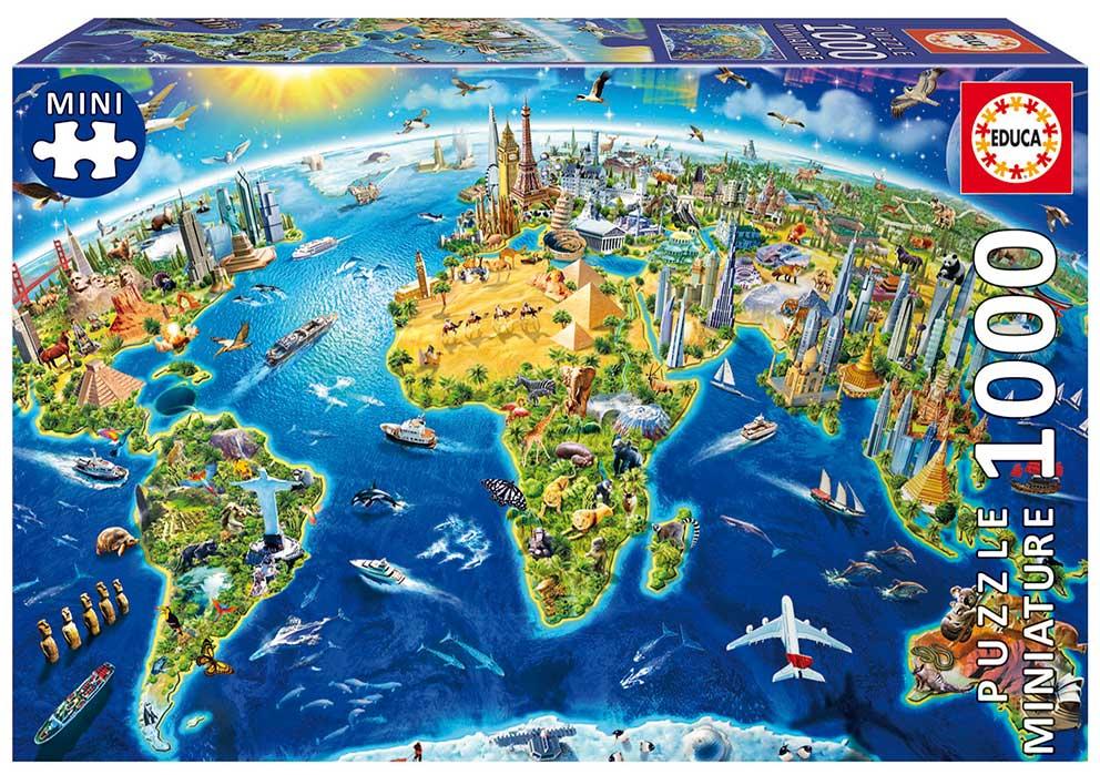 Puzzle Educa Símbolos del Mundo (Piezas Miniaturas) 1000 Piezas