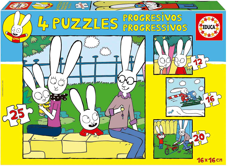 Puzzle Educa Simon Progresivo 12+16+20+25 Pzs