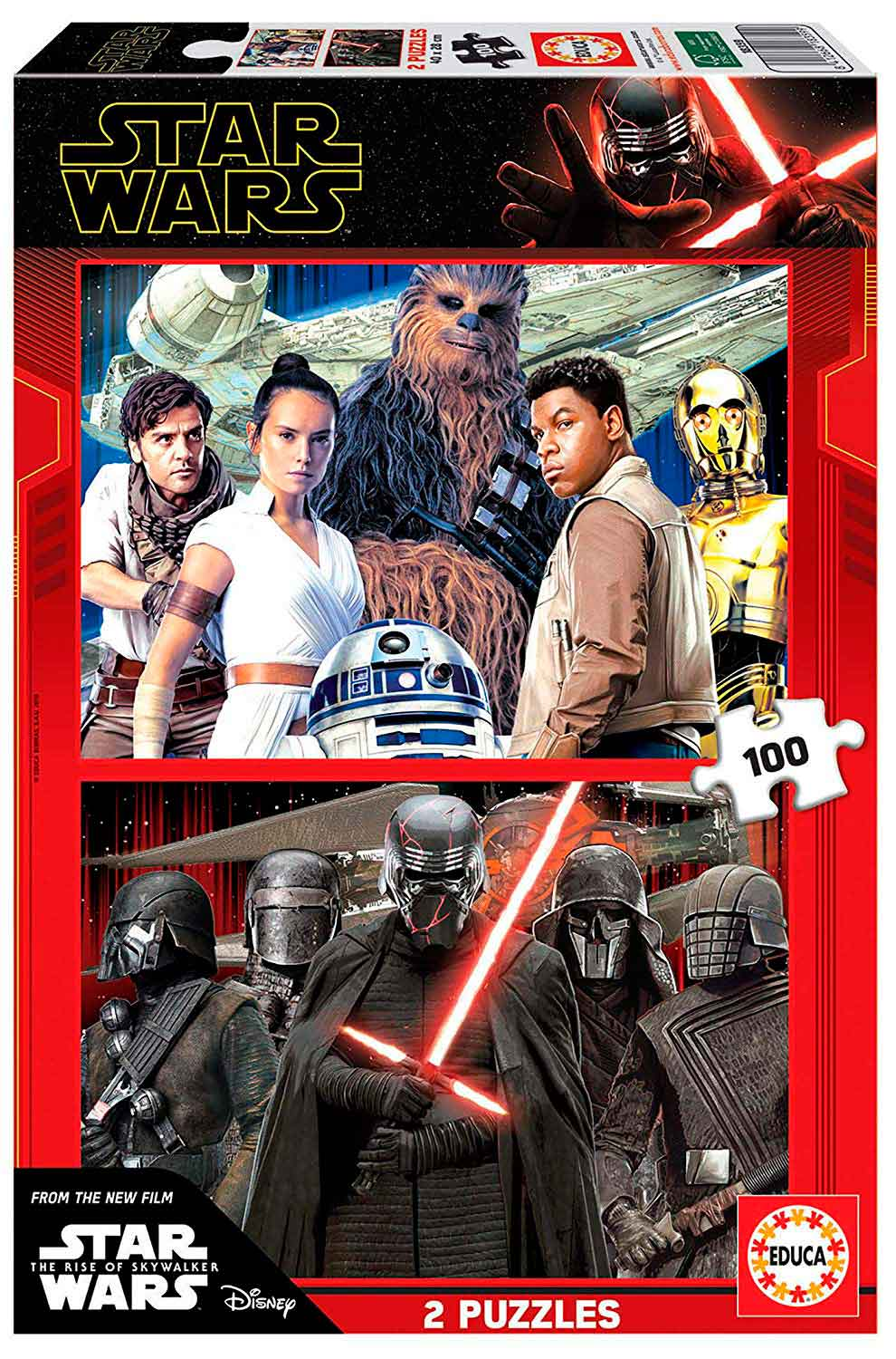 Puzzle Educa Star Wars Episodio 9 de 2 x 100 Pzs