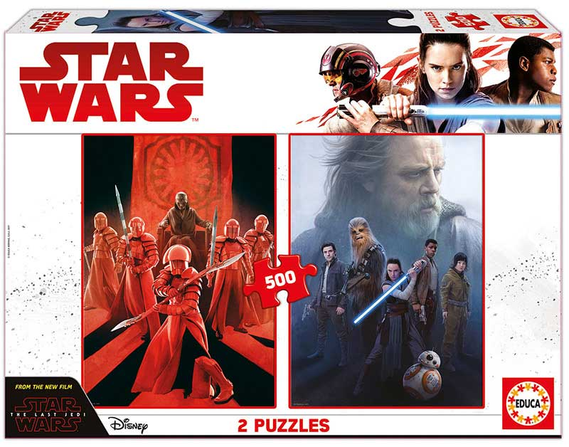 Puzzle Educa Star Wars Episodio VIII 2 x 500 Piezas