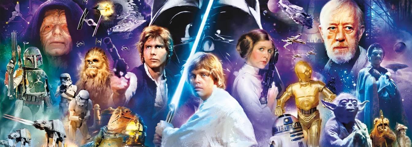 Puzzle Educa Star Wars, Panorámico de 1000 Piezas