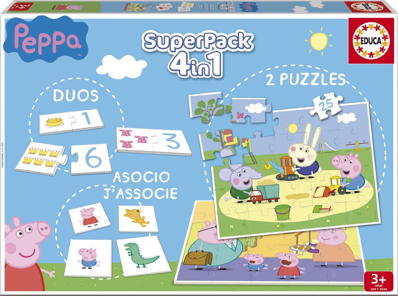 Puzzle Educa SuperPack Peppa Pig 2 x 25 Piezas