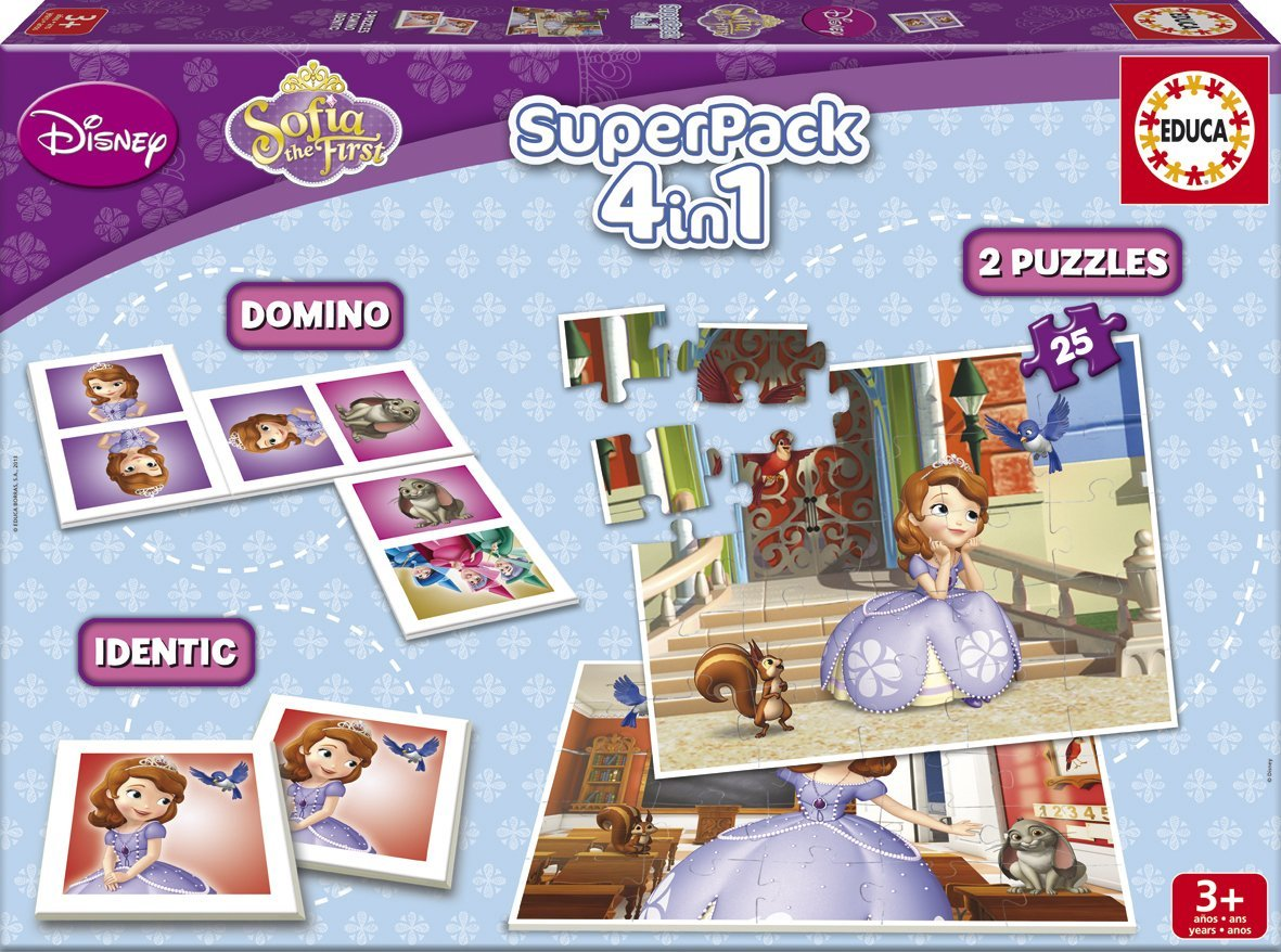 Puzzle Educa SuperPack Princesa Sofía 2 x 25 Piezas