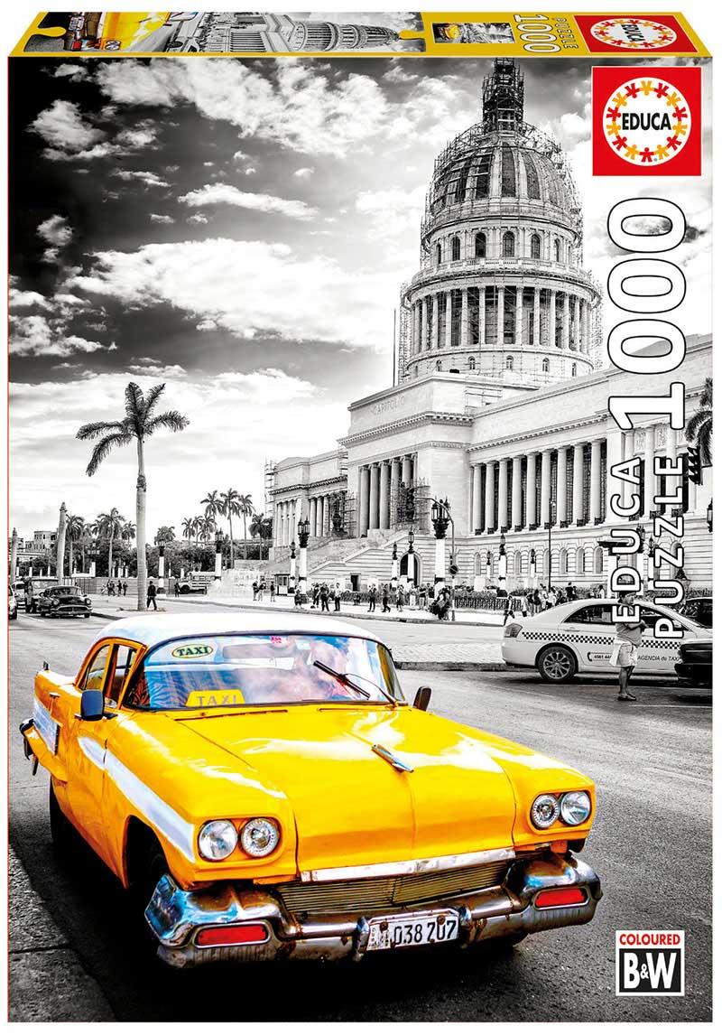 Puzzle Educa Taxi en la Habana, Cuba de 1000 Piezas