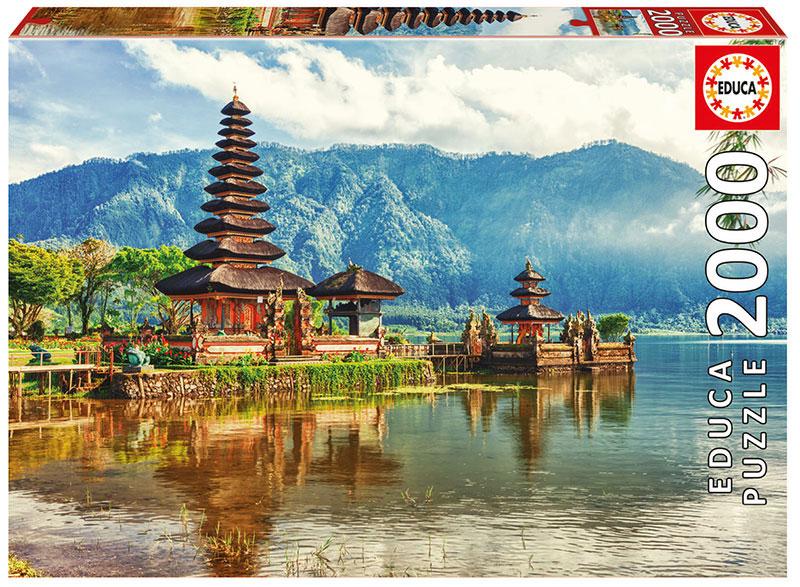 Puzzle Educa Templo Ulun Danu, Bali, Indonesia de 2000 Piezas