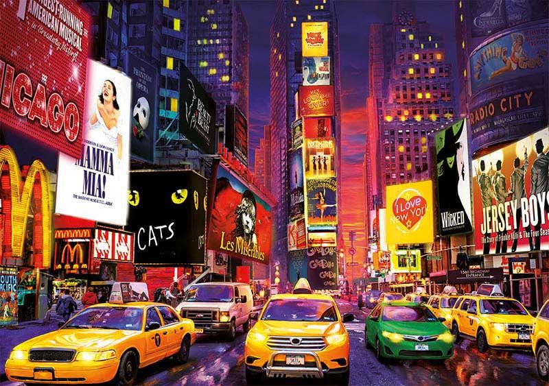 Puzzle Educa Times Square, Nueva York 2020 (Neón) de 1000 Piezas