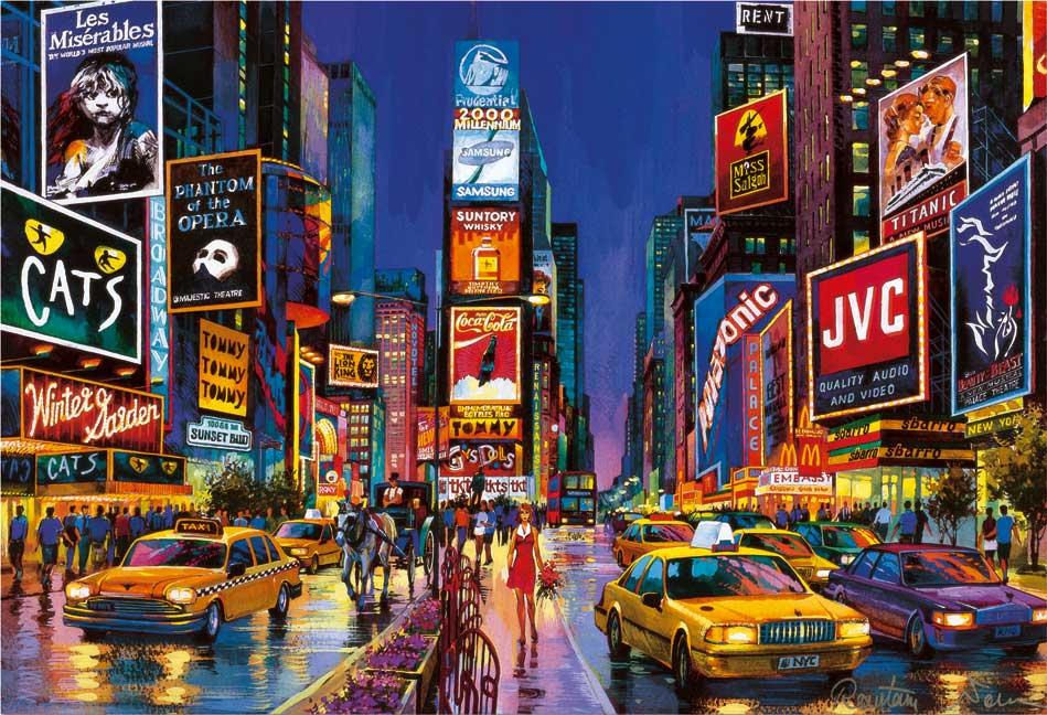 Puzzle Educa Times Square, Nueva York (Neón) de 1000 Piezas