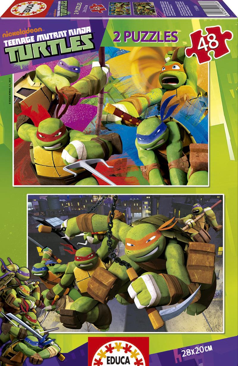 Puzzle Educa Tortugas Ninja 2 x 48 Piezas