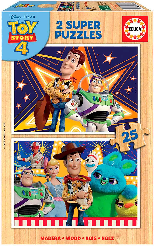 Puzzle Educa Toy Story 4 de 2 x 25 Piezas Madera
