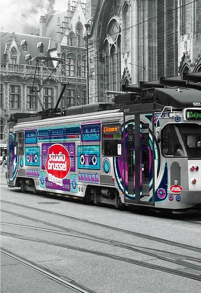 Puzzle Educa Tranvía en Gante, Bélgica de 500 Piezas
