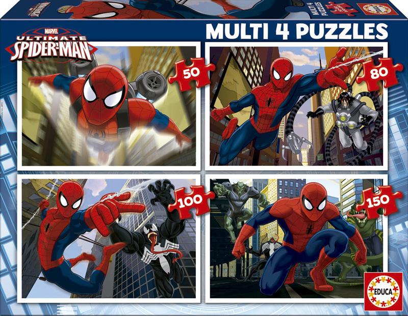 Puzzle Educa Ultimate Spiderman Progresivo 50+80+100+150