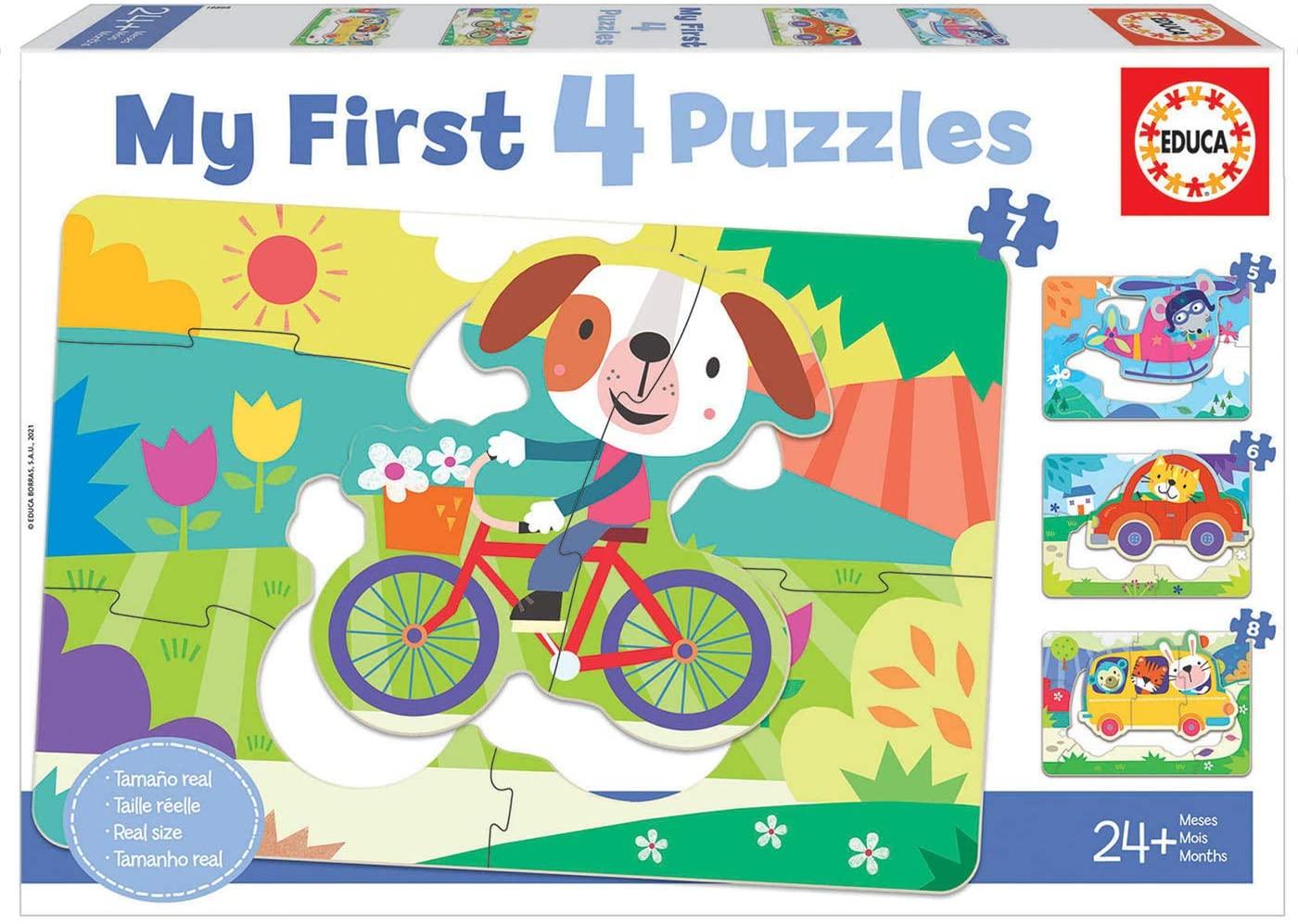 Puzzle Educa Vehículos Progresivo 5+6+7+8 Pzs